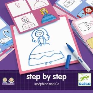 Eduludo - Step by step drawing Josephine (dj08320)