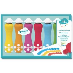 6 foam markers for little ones (dj09002)