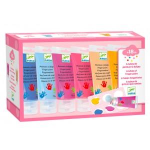 6 finger paint tubes - sweet colors (dj09000)